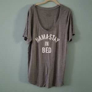 Nama-stay in bed gray soft tee fith Sun XL